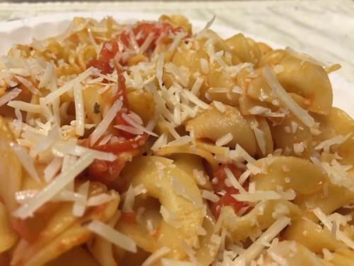 capellini wih tomatoes