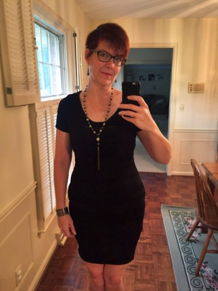 dress mirror selfie