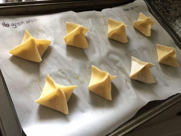 Baking the Wontons