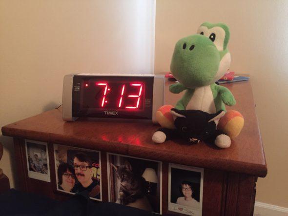Alarm clock with yoshi