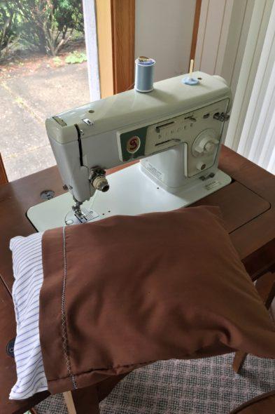 Too-short pillowcase