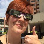 Me in eclipse glasses