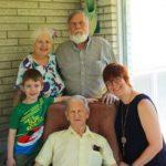 Grandma, Jim, Connor, Grandpa, and me