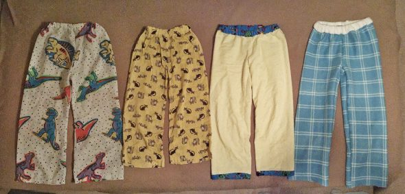 Four pairs of jammie pants