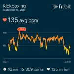 Fitbit heart rate graph