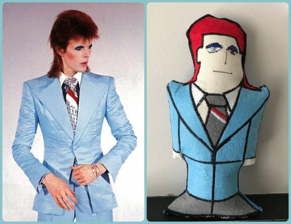 Bowie Life On Mars Plushie