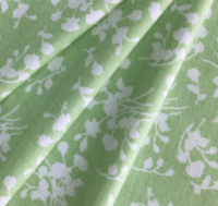 I bought this light green floral fabric from Joann's in June 2020.